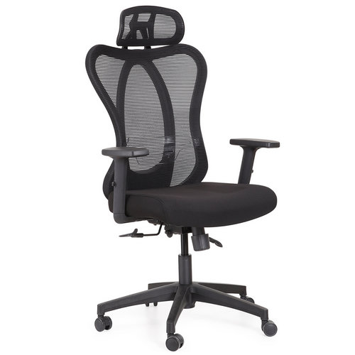 high back ergonomic fabric executive office computer chair -1